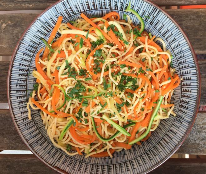 Recette de spaghetti de légumes