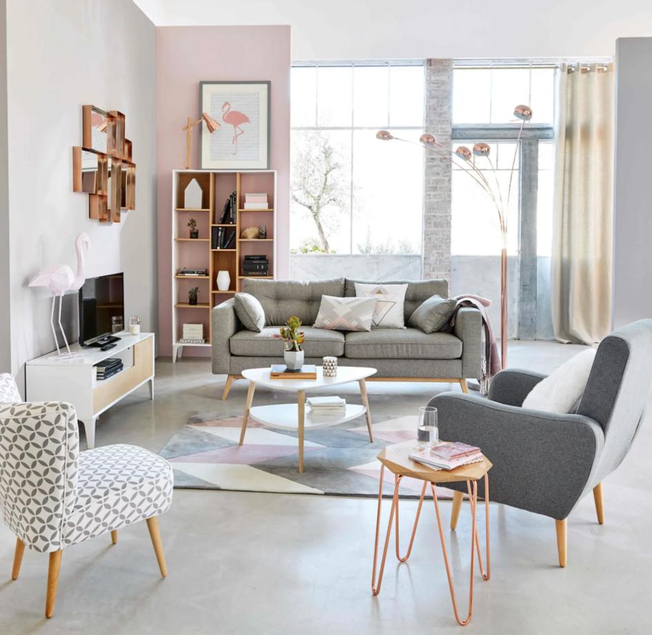 Salon décoration style scandinave
