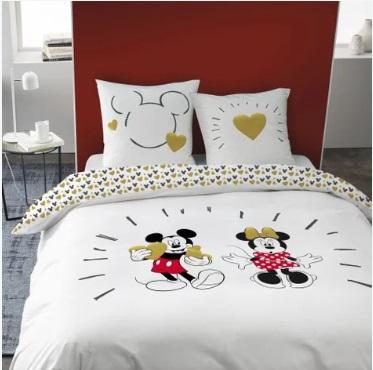 housse de couette Minnie et Mickey 2 personnes