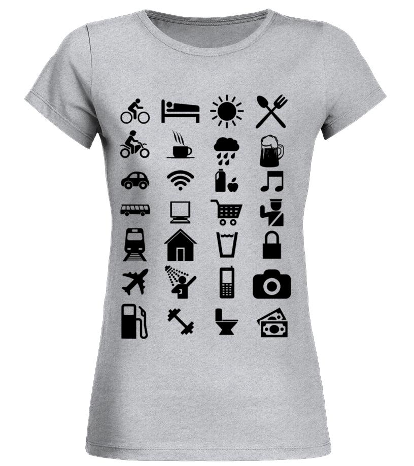 T-shirt avec icônes de voyage
