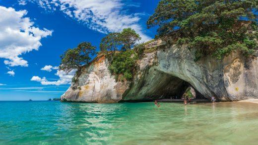 Cathedral Cove en Nouvelle Zélande