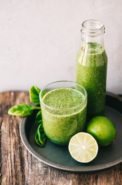jus de fruits et légumes verts