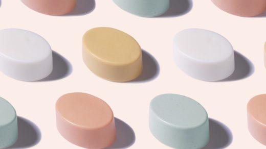 shampoing solides colorés